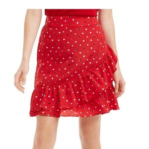NWT Red Rainbow Dot Skirt - Size L